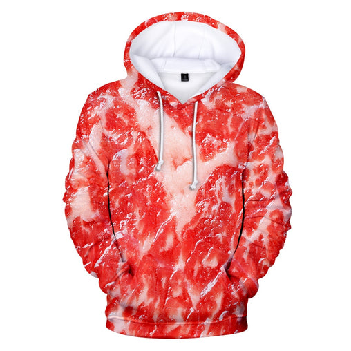 2019 Product Pork Men funny Hoodie Men's 3D Printi Beef Meat Print Hooded Sweatshirt Plus Size Autumn Winter Streetwear  H013