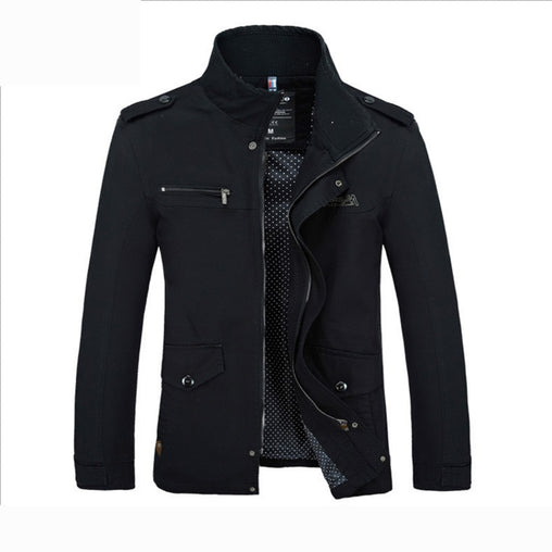 2019 fashion Jackets New Men's Windbreaker Autumn Casual Coats Men Outerwear Slim Fit Stand Collar Male Jacket Business G028