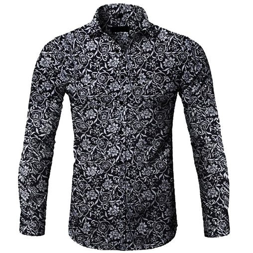 Autumn and winter casual long-sleeved flower shirt men shirt camisas hombre chemise homme shirt men off white camisa camisas