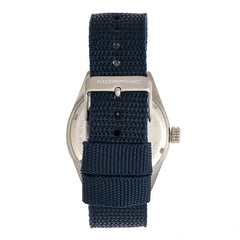 Morphic M69 Series Canvas-Band Watch - Silver/Blue