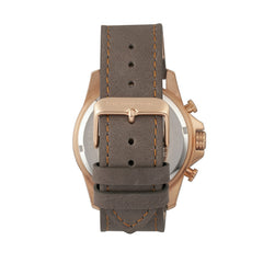 Morphic M57 Series Chronograph Leather-Band Watch - Rose Gold/Grey