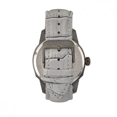 Morphic M56 Series Leather-Band Watch w/Date - Black/Grey