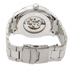 Heritor Automatic Crew Semi-Skeleton Bracelet Watch - Silver/Black