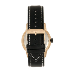 Morphic M71 Series Leather-Band Watch w/Date - Rose Gold/Black