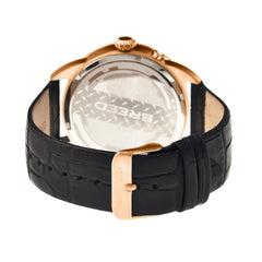 Breed Alton Leather-Band Moon-Phase Men's Watch-Rose Gold/Black