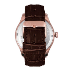 Reign Gustaf Automatic Leather-Band Watch - Brown/Black
