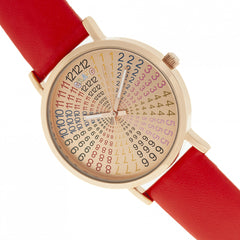 Crayo Fortune Unisex Watch - Rose Gold/Red