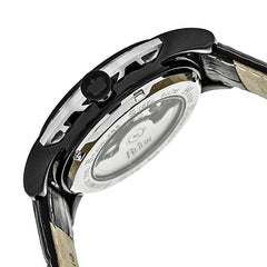 Reign Stavros Automatic Skeleton Leather-Band Watch - Silver/Charcoal