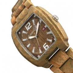 Earth Wood Sagano Bracelet Watch w/Date - GENT.ONE