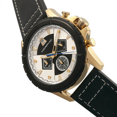 Morphic M57 Series Chronograph Leather-Band Watch - Gold/Black