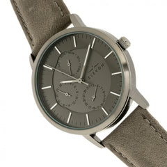 Elevon Lear Leather-Band Watch w/Day/Date - GENT.ONE