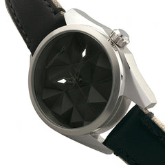 Morphic M59 Series Leather-Overlaid Canvas-Band Watch - Silver/Black