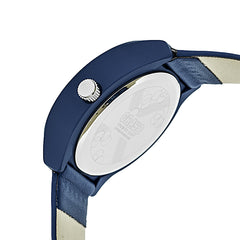 Crayo Atomic Leather-Band Watch - Blue