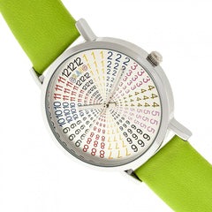 Crayo Fortune Unisex Watch - Silver/Lime
