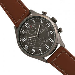 Elevon Lindbergh Leather-Band Watch w/Day/Date - GENT.ONE