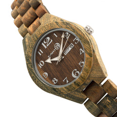 Earth Wood Sapwood Bracelet Watch w/Date - GENT.ONE