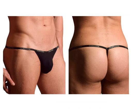 Doreanse 1330-BLK Ribbed Modal T-thong Color Black