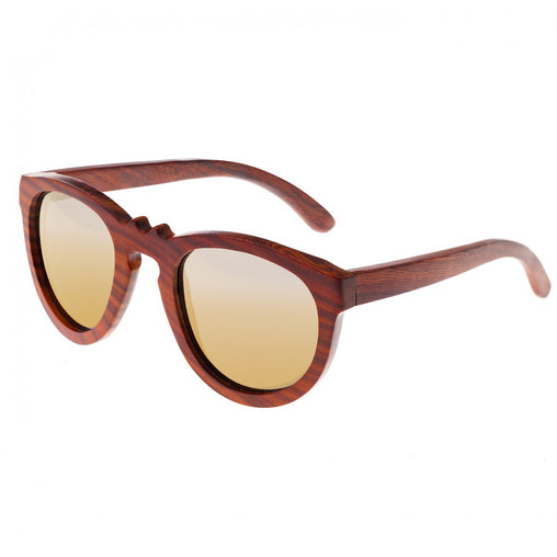 Earth Wood Venice Polarized Sunglasses - Red Rosewood/Gold