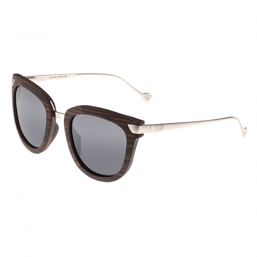 Earth Wood Nissi Polarized Sunglasses - Brown Zebra/Black