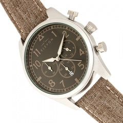 Elevon Curtiss Chronograph Nylon-Overlaid Leather-Band Watch - GENT.ONE
