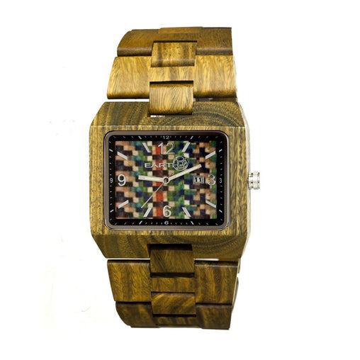 Earth Wood Rhizomes Bracelet Watch w/Date