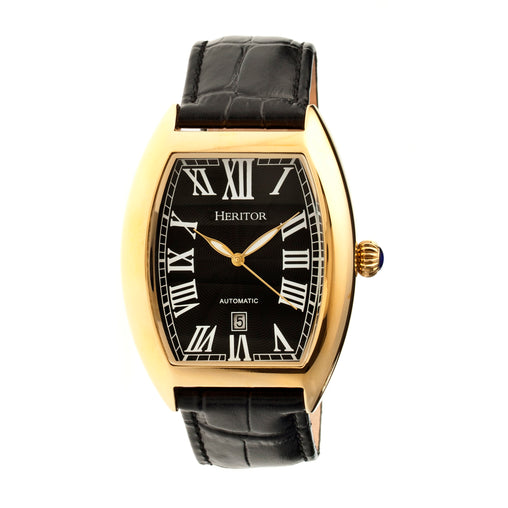 Heritor Automatic Redmond Leather-Band Watch w/Date