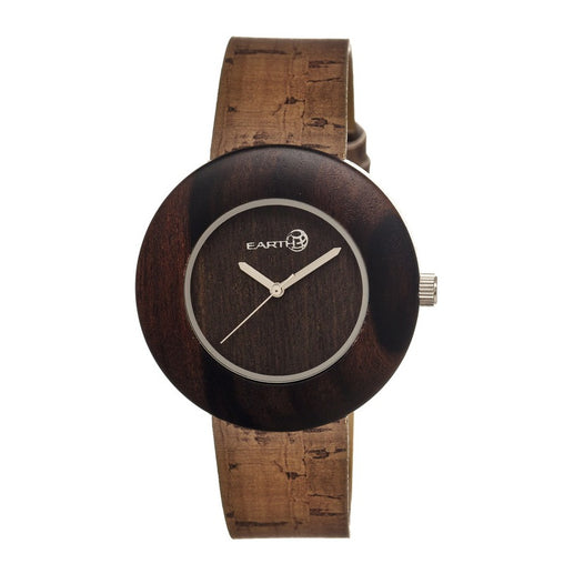 Earth Wood Ligna Leather-Band Watch