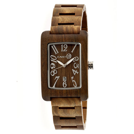 Earth Wood Trunk Bracelet Watch w/Date