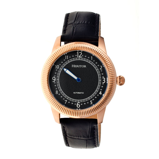 Heritor Automatic Hoyt Leather-Band Watch