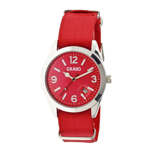 Crayo Sunrise Nylon-Band Unisex Watch w/ Date