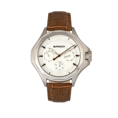 Breed Tempe Leather-Band Watch w/Day/Date - GENT.ONE