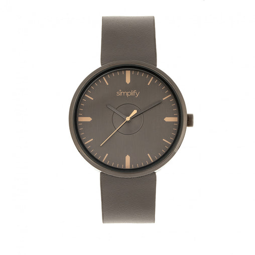 Simplify The 4500 Leather-Band Watch