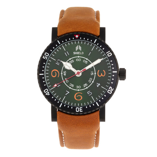 Shield Gilliam Leather-Band Men's Diver Watch