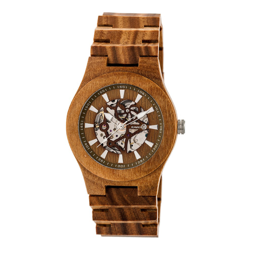 Earth Wood Gobi Automatic Skeleton Bracelet Watch