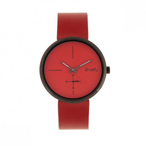 Simplify The 4400 Leather-Band Watch