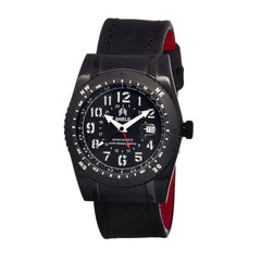 Shield Nuno Leather-Band Swiss Men's Diver Watch