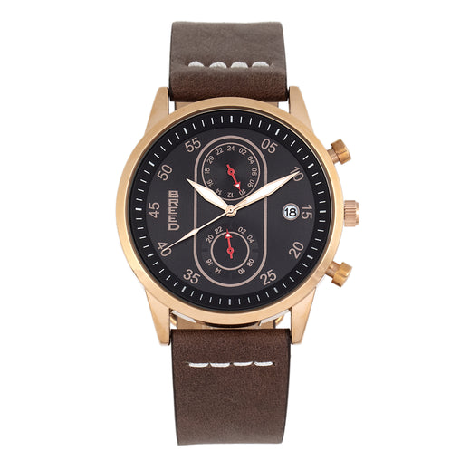 Breed Andreas Leather-Band Watch w/ Date