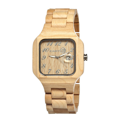 Earth Wood Testa Men's Bracelet Watch w/ Date