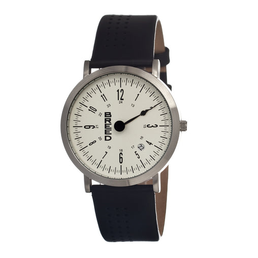 Breed Kimble One-Hand Leather-Band Men's Watch