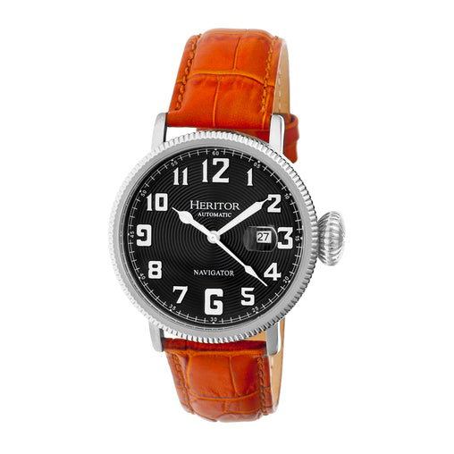 Heritor Automatic Olds Leather-Band Watch