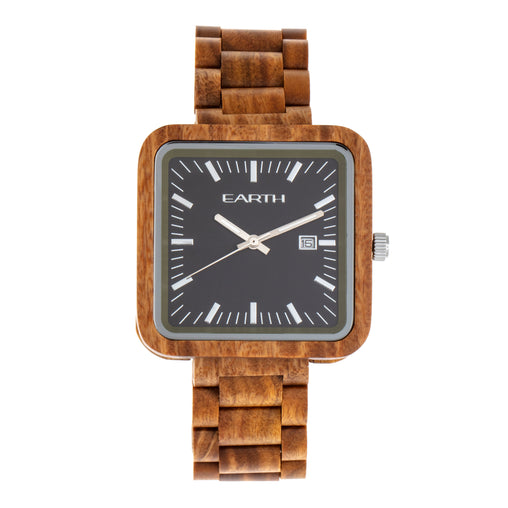 Earth Wood Berkshire Bracelet Watch w/Date