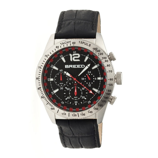Breed Griffin Leather-Band Chronograph Men's Watch