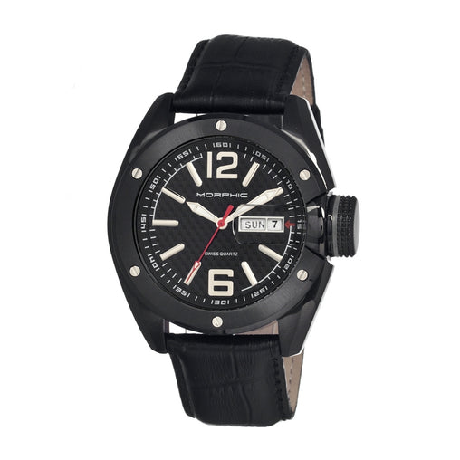 Morphic M16 Series Leather-Band Swiss Men's Watch