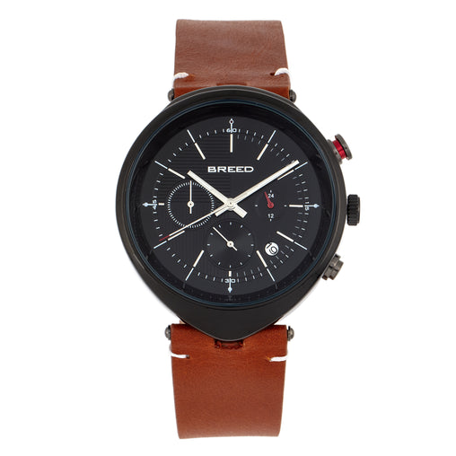 Breed Tempest Chronograph Leather-Band Watch w/Date