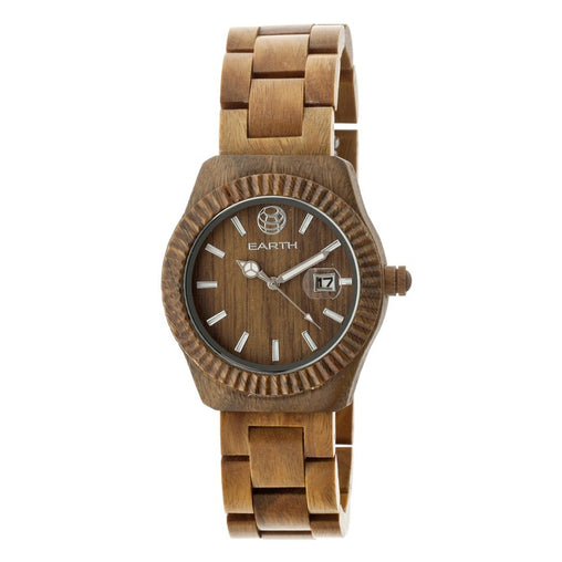 Earth Wood Pith Bracelet Watch w/Date