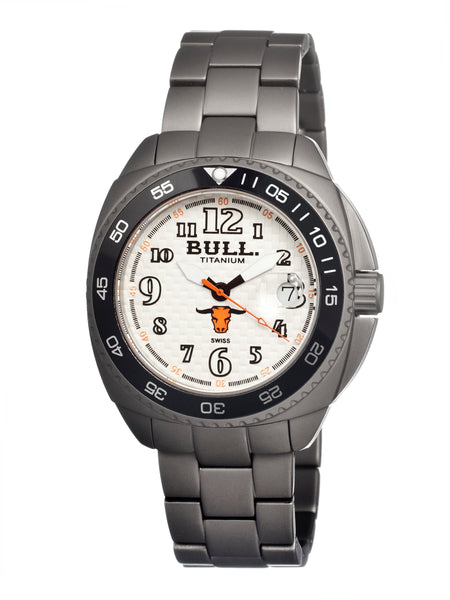 Bull Titanium Matador Men's Swiss Bracelet Watch