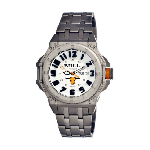 Bull Titanium Brahman Men's Swiss Bracelet Watch