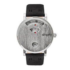 Simplify The 7000 Leather-Band Watch