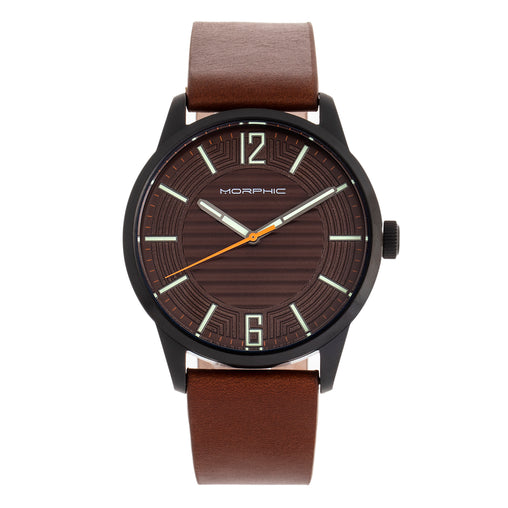 Morphic M77 Series Leather-Band Watch