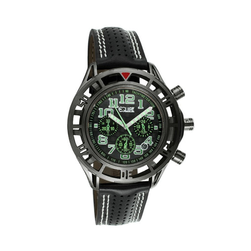 Equipe Chassis Chronograph Mens Leather-Band Watch